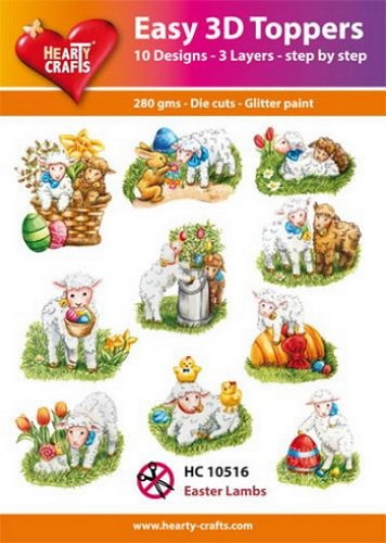 Easy 3D Toppers Pasen Easter Lambs