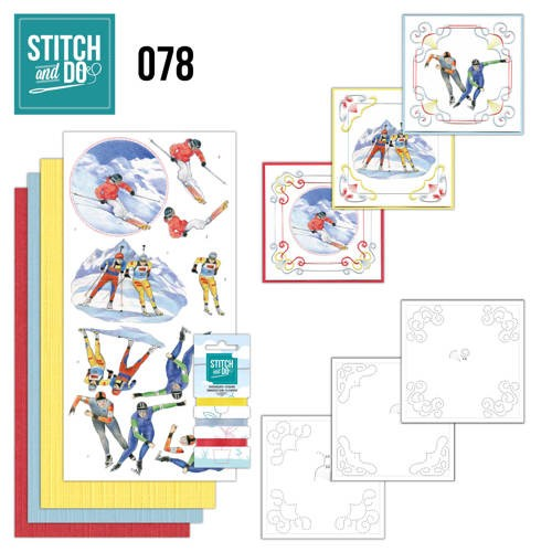 Borduurpakketje Stitch and Do 78 - Wintersport