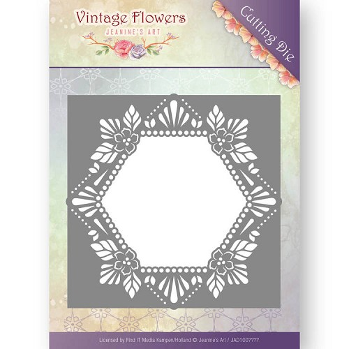 Dies - Jeanine`s Art - Vintage Flowers - Floral Hexagon