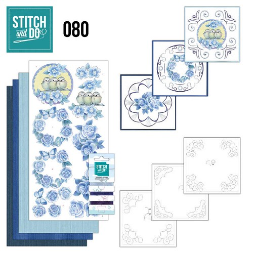 Borduurpakketje Stitch and Do 80 - Vintage Bloemen