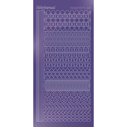 Hobbydots stickervel Serie 21 Mirror Purple