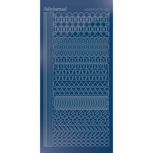Hobbydots stickervel Serie 21 Mirror Blue
