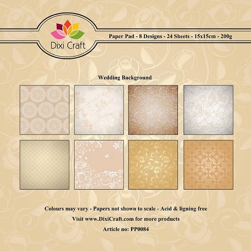 Dixi paper pad 15x15cm Wedding Background