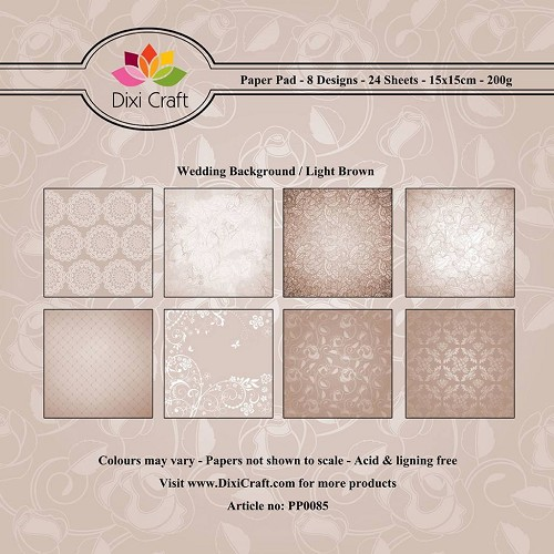 Dixi paper pad 15x15cm Wedding Background Light Brown