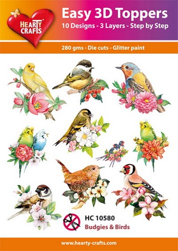 Easy 3D Toppers Budgies & Birds