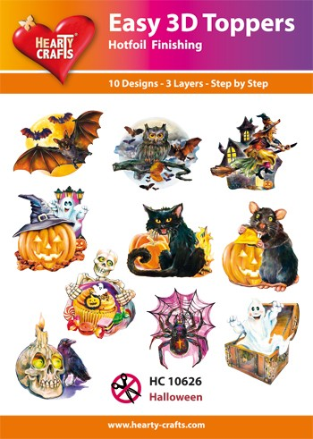 Easy 3D Toppers Halloween