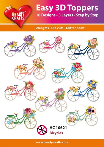 Easy 3D Toppers Bicycles