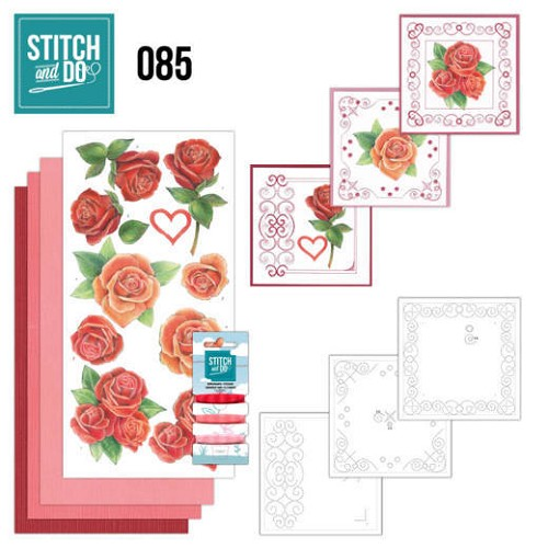 Borduurpakketje Stitch and Do 85 - Roses