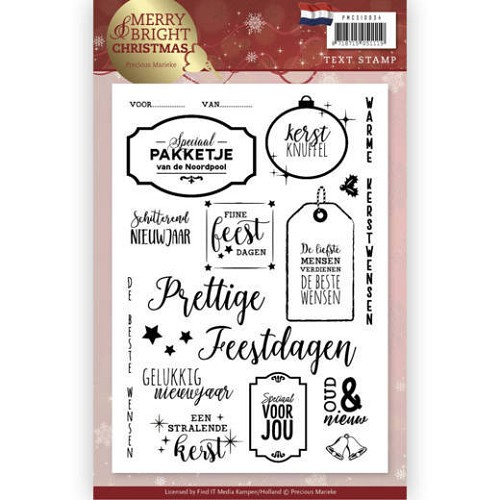 Clear Stamp - Precious Marieke - Merry and Bright Christmas - NL