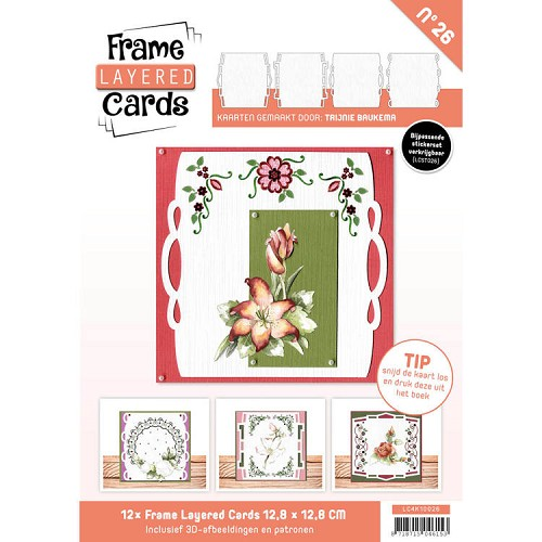 Boek Frame Layered Cards 26 - 4K