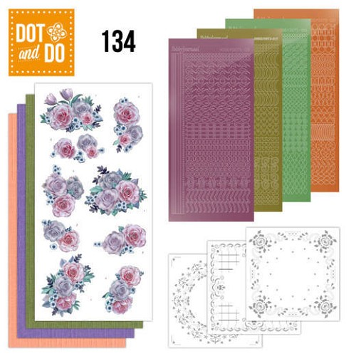 Dot and Do 134 - Purple Flowers