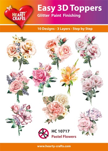 Easy 3D Toppers Pastel Flowers