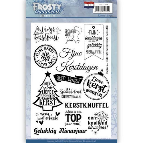 Clearstamp - Jeaninnes Art - Frosty Ornaments NL