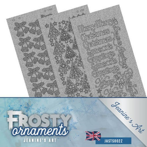 Stickerset - Jeanine`s Art - Frosty Ornaments - ENG zilver