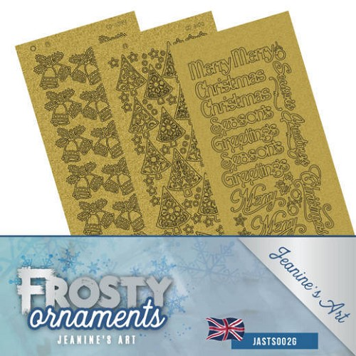 Stickerset - Jeanine`s Art - Frosty Ornaments - ENG goud