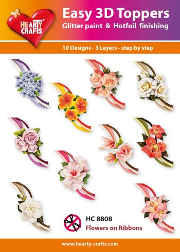 Easy 3D Toppers Flowers on Ribbons