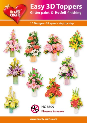 Easy 3D Toppers Flowers in Vases