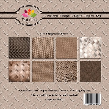 Dixi paper pad 15x15cm Steel Background Brown
