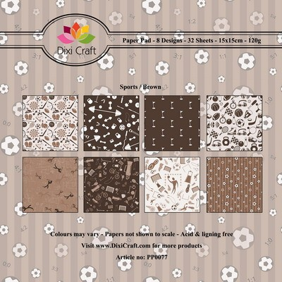 Dixi paper pad 15x15cm Sports Brown