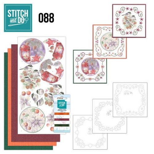 Borduurpakketje Stitch and Do 88 - Christmas Florals