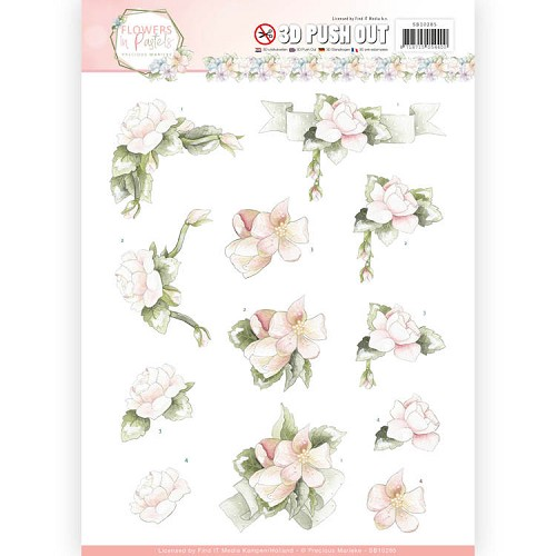 Marieke Design stansvel A4 - Flowers in Pastels