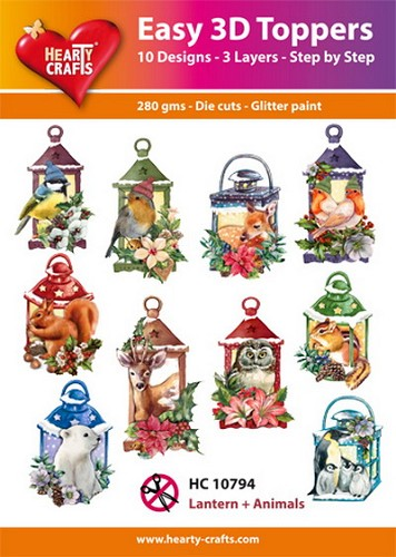 Easy 3D Toppers Lantern and Animals