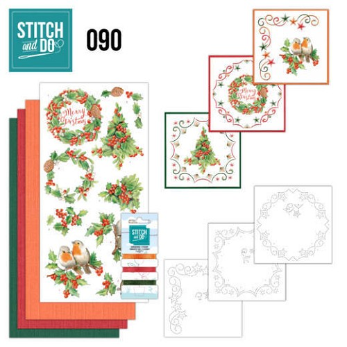 Borduurpakketje Stitch and Do 90 - Merry Christmas