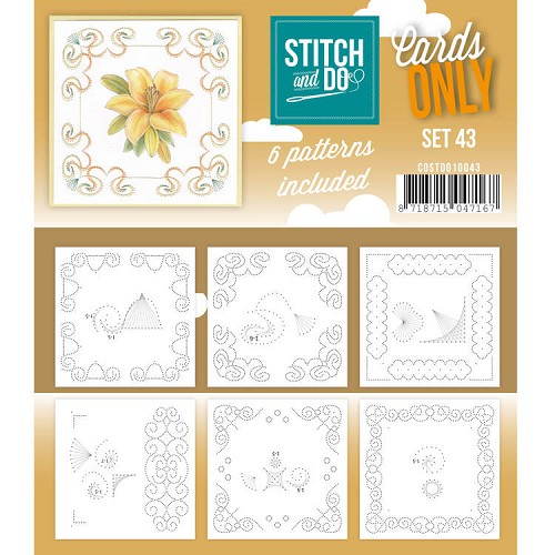 Stitch & Do - Cards only - set 43