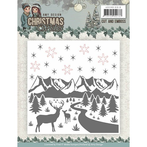 Amy Design - Cut and Emboss Folder - Christmas Wishes