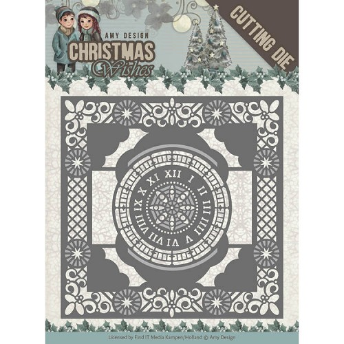 Amy Design die - Christmas Wishes -  Twelve O`clock frame
