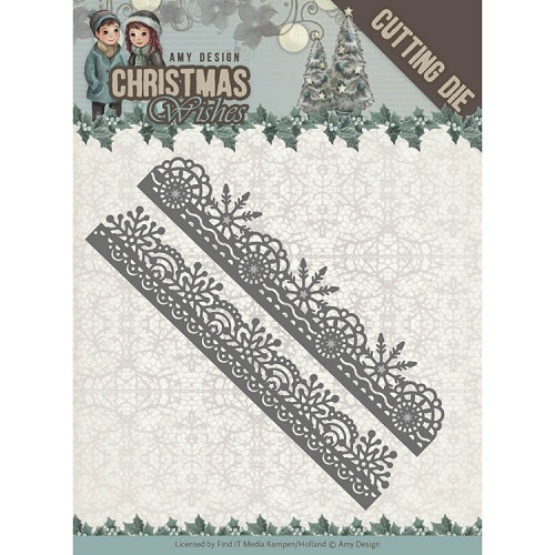 Amy Design die - Christmas Wishes - Snowflake Borders