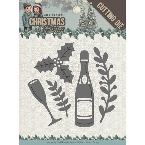 Amy Design die - Christmas Wishes - Champagne