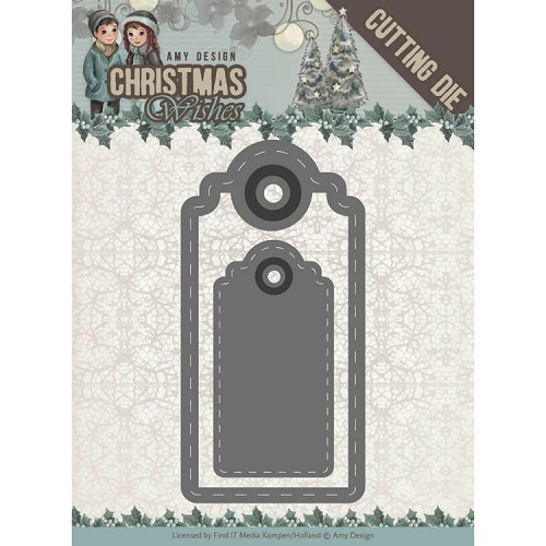 Amy Design die - Christmas Wishes - Wishing Labels