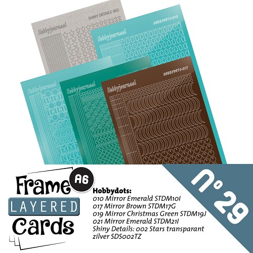 Stickerset voor A6 framed cards 29