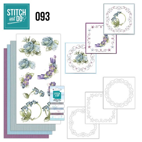 Borduurpakketje Stitch and Do 93 - Winter Flowers