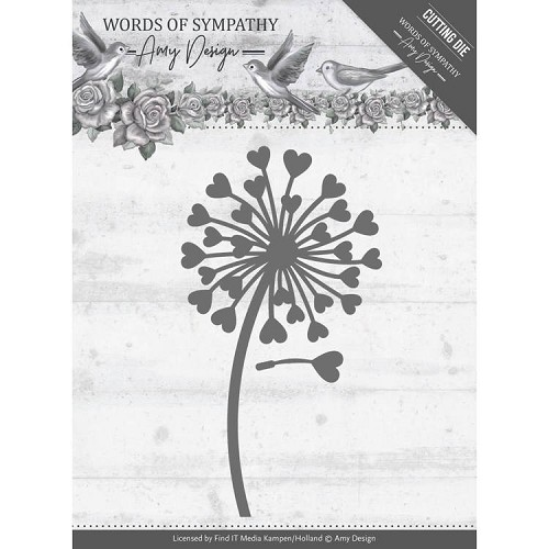 Amy Design die - Words of Sympathy - Sympathy Flower