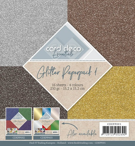 Carddeco Glitter Paperpack 1