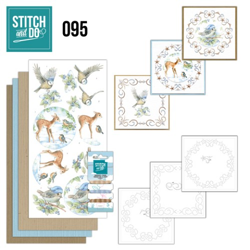 Borduurpakketje Stitch and Do 95 - Winter Woodland