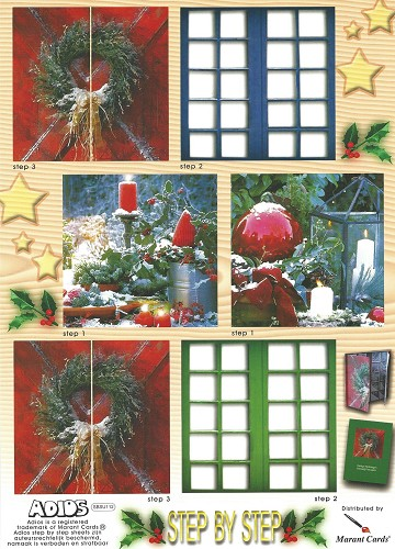 3D knipvel A4 Winter Window Card Christmas Balls