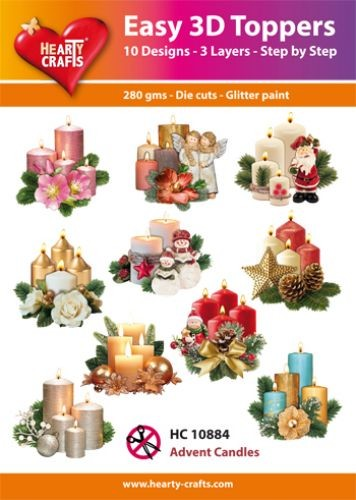 Easy 3D Toppers Advent Candles