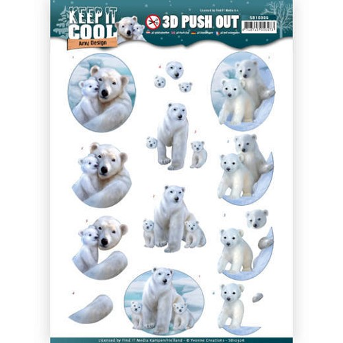 3D uitdrukvel - Amy Design - Keep it Cool - Cool Polar Bears