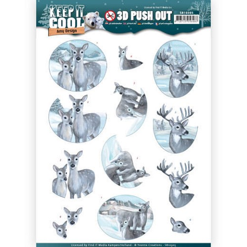 3D uitdrukvel - Amy Design - Keep it Cool - Cool Deers