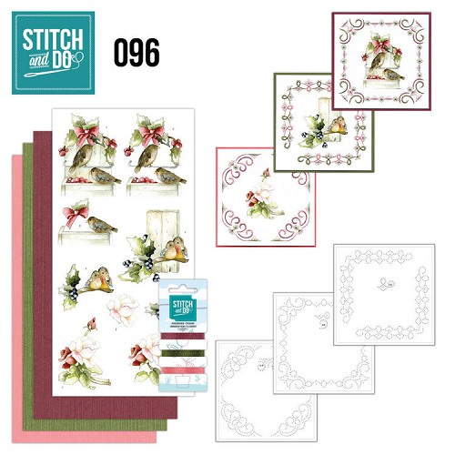 Borduurpakketje Stitch and Do 96 - Winter Birds