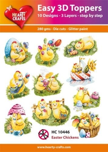 Easy 3D Toppers Pasen Easter Chickens