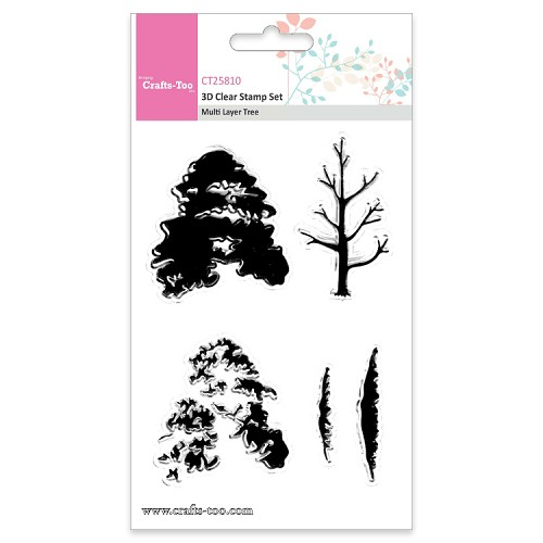 Crafts Too 3D Clearstamp Set - Multi Layer Tree (5pcs)