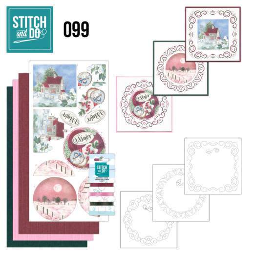 Borduurpakketje Stitch and Do 99 - Winter Night