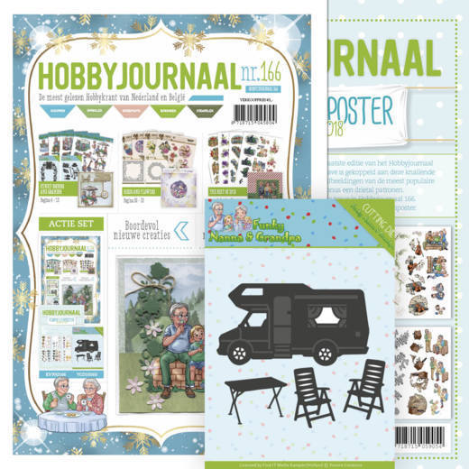 Hobbyjournaal 166 - SET met Knipvellenposter The Best of 2018 en snijmal YCD10160