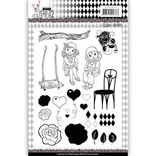 Clearstamp - Yvonne Creations Pretty Pierrot