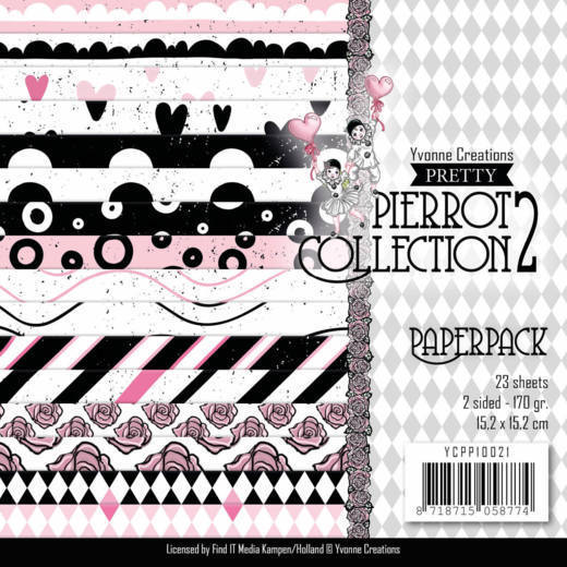 Paperpack - Yvonne Creations - Pretty Pierrot 2