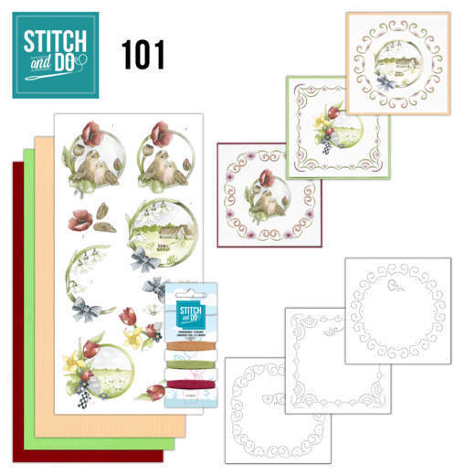 Borduurpakketje Stitch and Do 101 - Spring Life